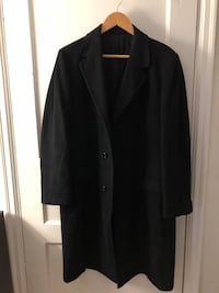 Men's Navy Pure Wool Long Coat Arlington, 22205