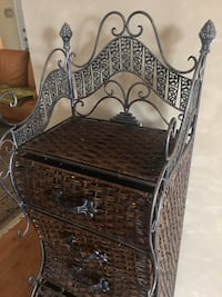 Pier One Metal wicker six drawer custom shelf Oakville, L6H 1B9