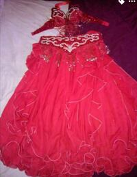 red and white floral spaghetti strap dress Oklahoma City, 73127