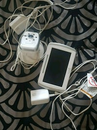 white tablet computer with charger