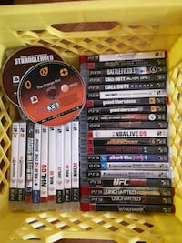 assorted PS3 games with cases Montréal, H4B 2B9