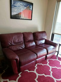 brown leather 3-seat recliner sofa and recliner Minneapolis, 55408
