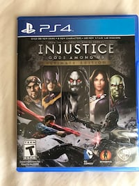 Injustice Gods Among Us PS4 game case 1191 mi