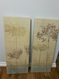 PRICE REDUCED - 11 1/2 x  29 1/2 set of 2 Thistles Abbotsford, V2T 5T5