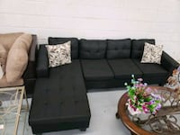 Brand new modern black fabric sectional  Toronto, M9W 1P6