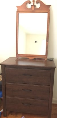 brown wooden dresser with mirror Hyattsville, 20785