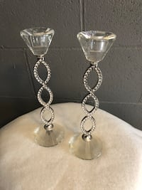 silver and diamond studded earrings Vaughan, L4H 0M1
