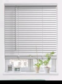 Free 2 white and 2 black blinds- not allowed to drill holes in new apt