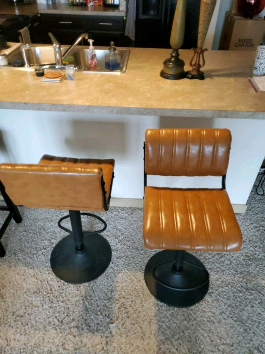Photo Set of two bar stools new out of box mint
