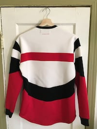 white, red, and black striped sweatshirt Washington, 20001