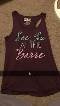 women's brown See You at the Barre-printed tank top Manhattan, 66503