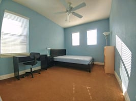 Private bedroom with bathroom utilities included