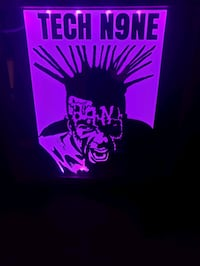 Tech N9ne etched lighted mirror