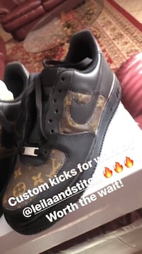 Custom Authentic Louis Vuitton AF1 Low Silver Spring, 20904
