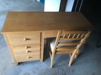 "Stanley Furniture desk and chair. Very good condition. 44""L 30""H 18""W Silver Spring, 20904"