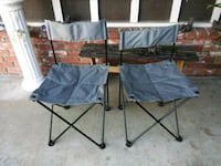 two black-and-gray folding chairs Norco, 92860