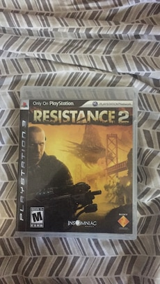 Resistance 2 Sony Playstation game case
