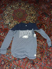 New Large Roots Long Sleeve Gray and Blue Markham, L3T 2E9