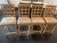 4 Counter Height Bar Stools