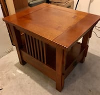 Mission style wooden end table night stand Kensington, 20895