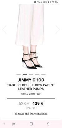 Brand new Jimmy Choo, in box, size 9,5 Toronto, M4G 2L9