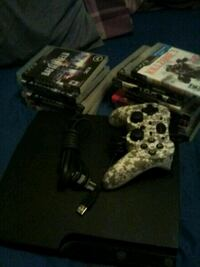 PS3 slim 160gb w/ 14 gamed 1 controller Mansfield