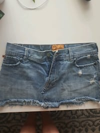 Hollister mini jeans skirt