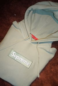 white and red Supreme pullover hoodie Coquitlam, V3K 6B7
