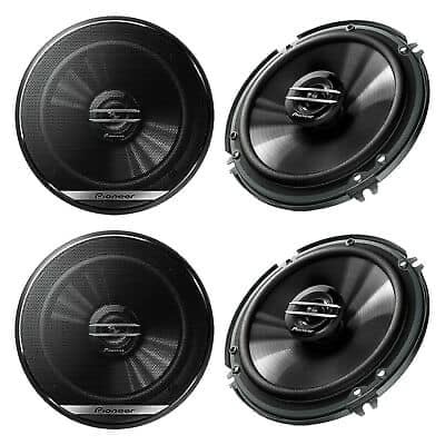 4 New pioneer car speakers with installation