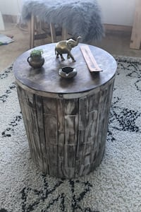 Wood End Table, Coffee table, Round