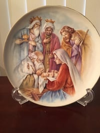 "NATIVITY 8"" display plate with easel, by Home Interiors.  $10 Hanover Township, 18706"