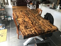 Custom live edge dinning tables  550 km