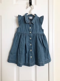Babygap denim button up dress size 6-12 months- worn only once Mississauga, L5M 0C5