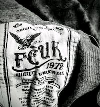 --FCUK V-neck T-shirt--