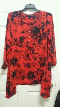 red and black floral long-sleeved dress Asheboro, 27205