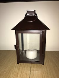 Metal west elm lantern