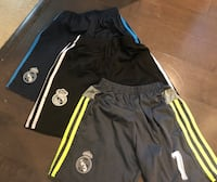Lot of three kids soccer shorts ~ size small/med ~ $20 for all three Surrey, V4N 6A2