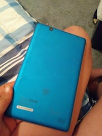 blue android smartphone