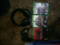 Xbox one controller, turtle beaches, and games Gresham, 97080