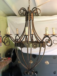 black metal framed uplight chandelier Tampa, 33612