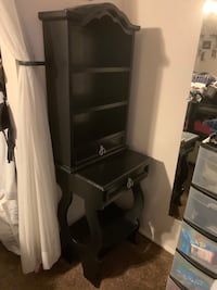 Refinished-Black Hutch $85; Beautiful!!! Drawers are perfect!