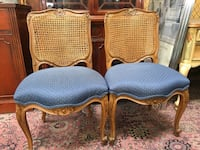 Pair of french carved chairs cane back Whittier, 90602