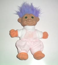 Vintage Soma 1992 Plush 12 Inch Glo Troll Doll London