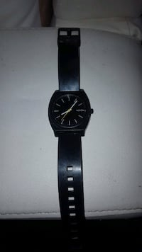 "Nixon ""The Time Teller P"" Men's Watch- Black- Poly Carbonate Calgary"