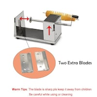 RioRand Manual Stainless Steel Twisted Potato Slicer Spiral Vegetable Cutter French Fry Barrie