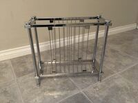 3 chrome magazine racks / file organizers Port Moody, V3H 1S9