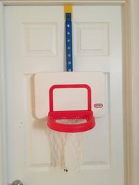 white and red basketball hoop Vienna, 22182