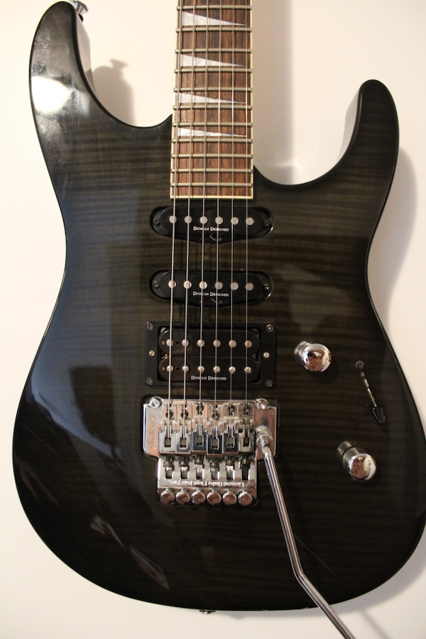 Electric guitar Jackson with Seymour Duncan designed pickups, Floyd rose, 24 freets