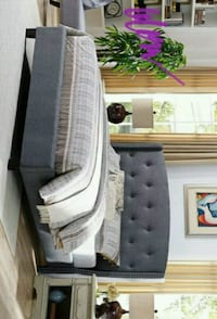 Eva Gray Upholstered Queen Bed(King Size availabl Houston