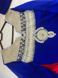 M/L Blue anarkali suit